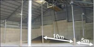 Tipiese spasiëring vir 'n P3 Pile-Dry Pedestal